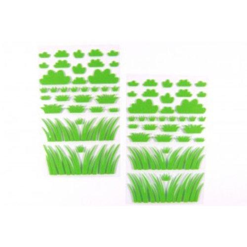 Sticker Filz Büsche und Gräser