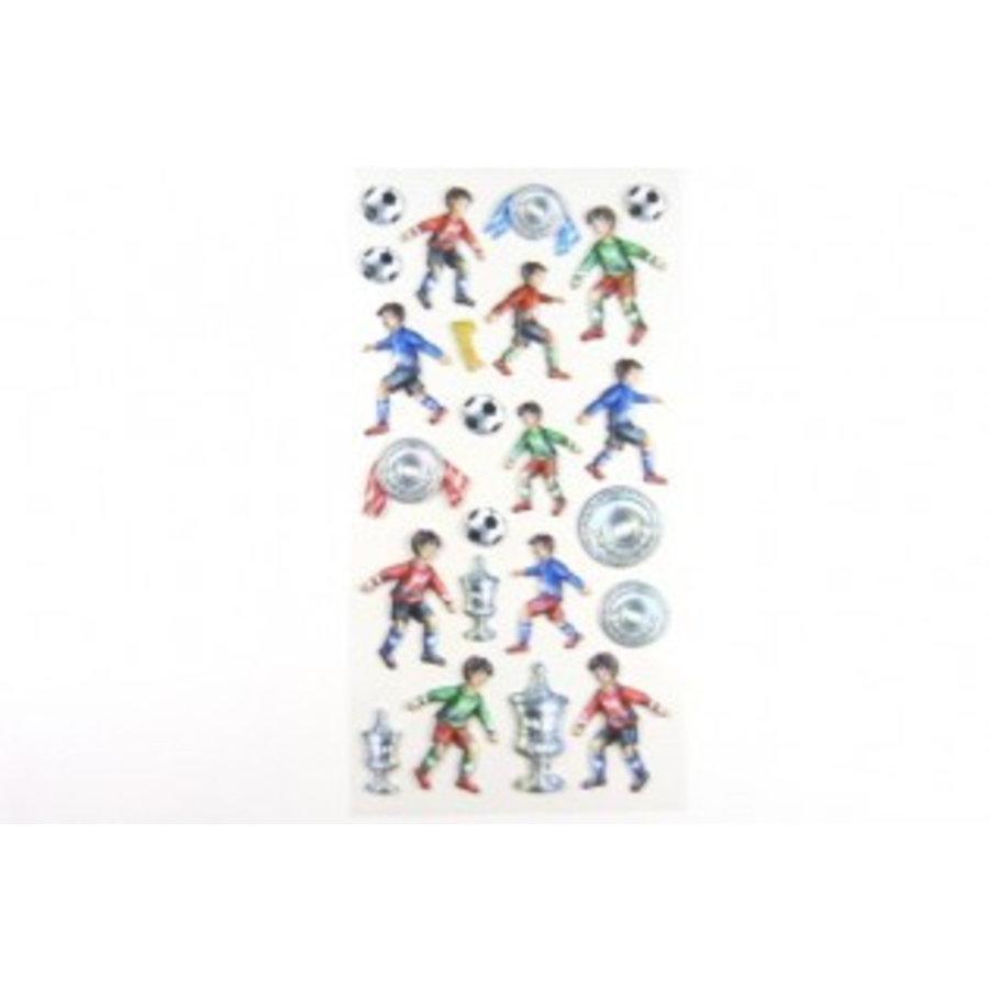 Selbstklebende Sticker Fussballer