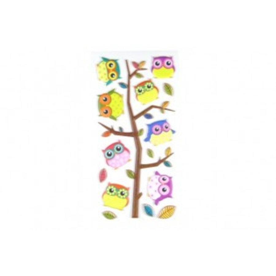 Selbstklebende StickerEulen