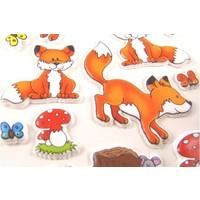 Selbstklebende Sticker Füchse