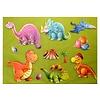 Selbstklebende Sticker Dinosaurier - XXL