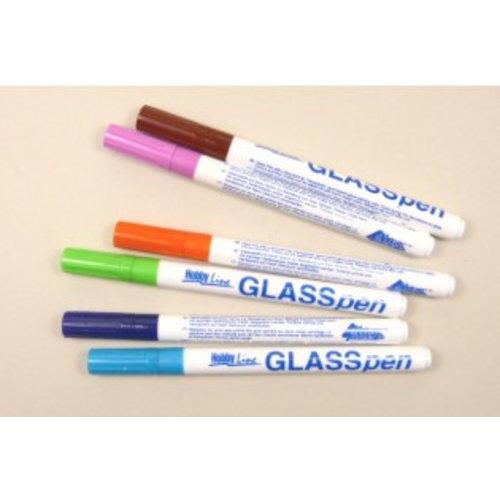 Glasmalstifte 6er