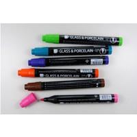 Porzellan- und Glasmalstifte 6er