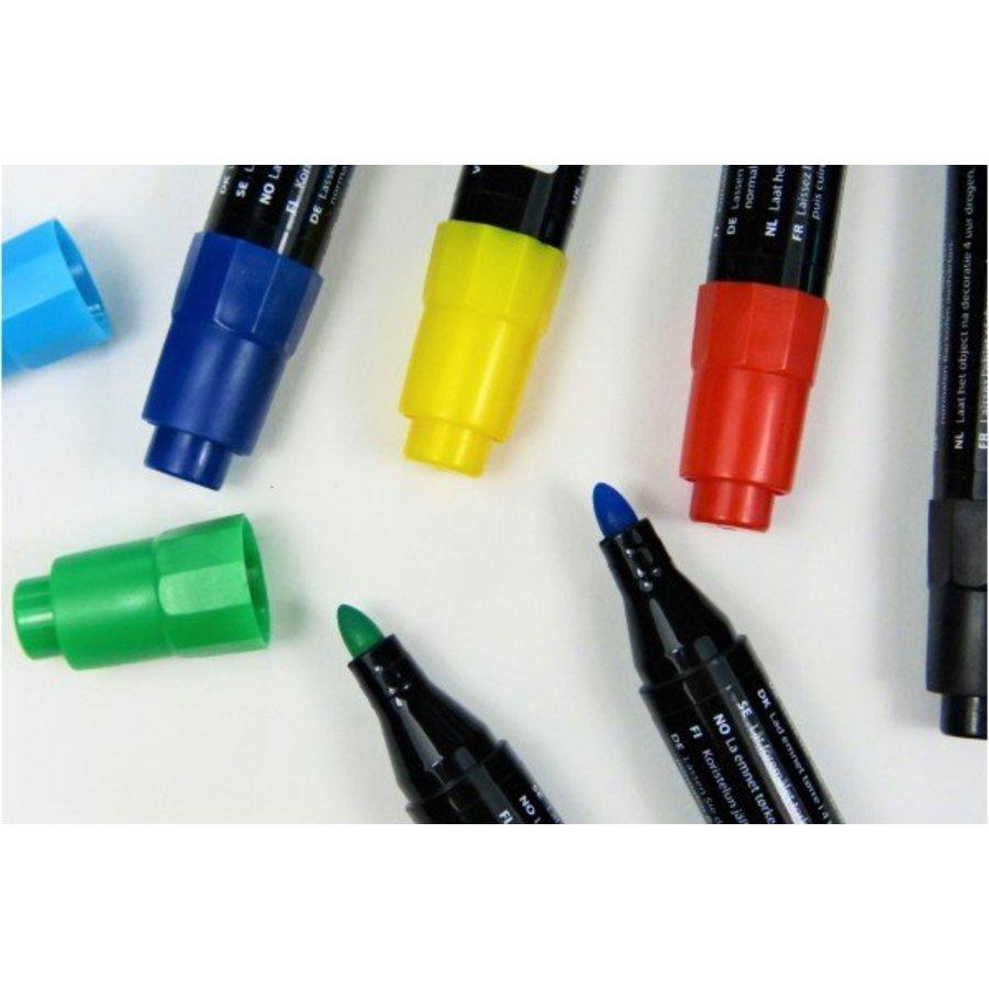 Porzellan- und Glasmalstifte Grundfarben