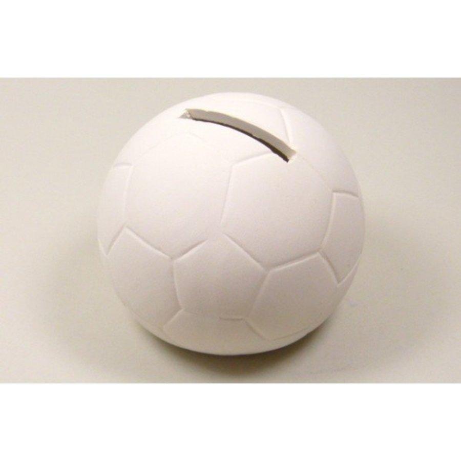 Spardose Fussball aus Keramik