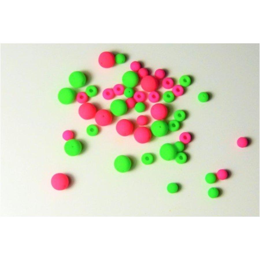 Neon Glasperlen 48 Stück