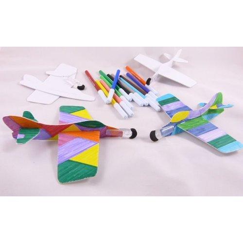 Bastelset - Segelflieger für 4 Kinder