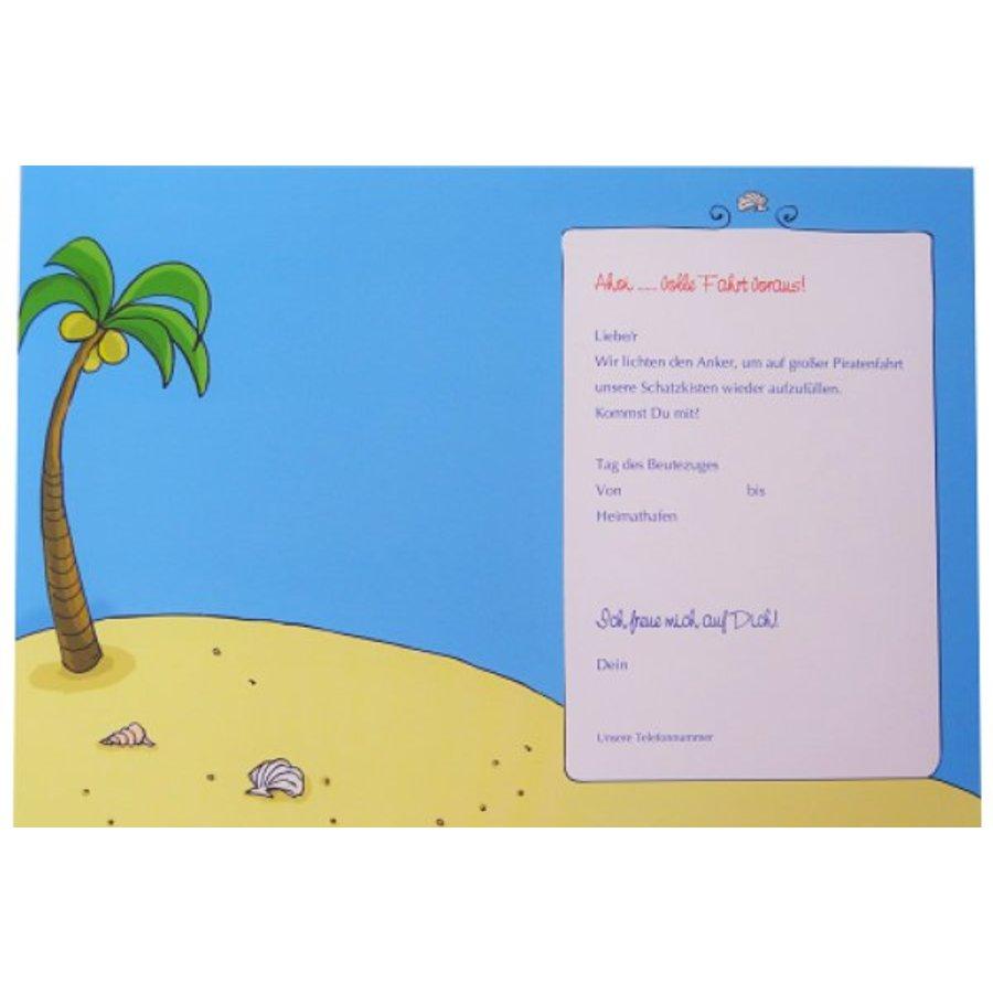Piraten Einladungskarte