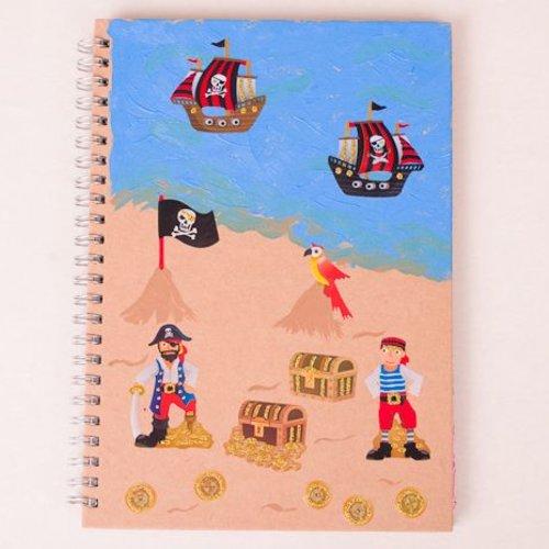 Piraten-Notizbuch basteln (+ 5 Jahre)