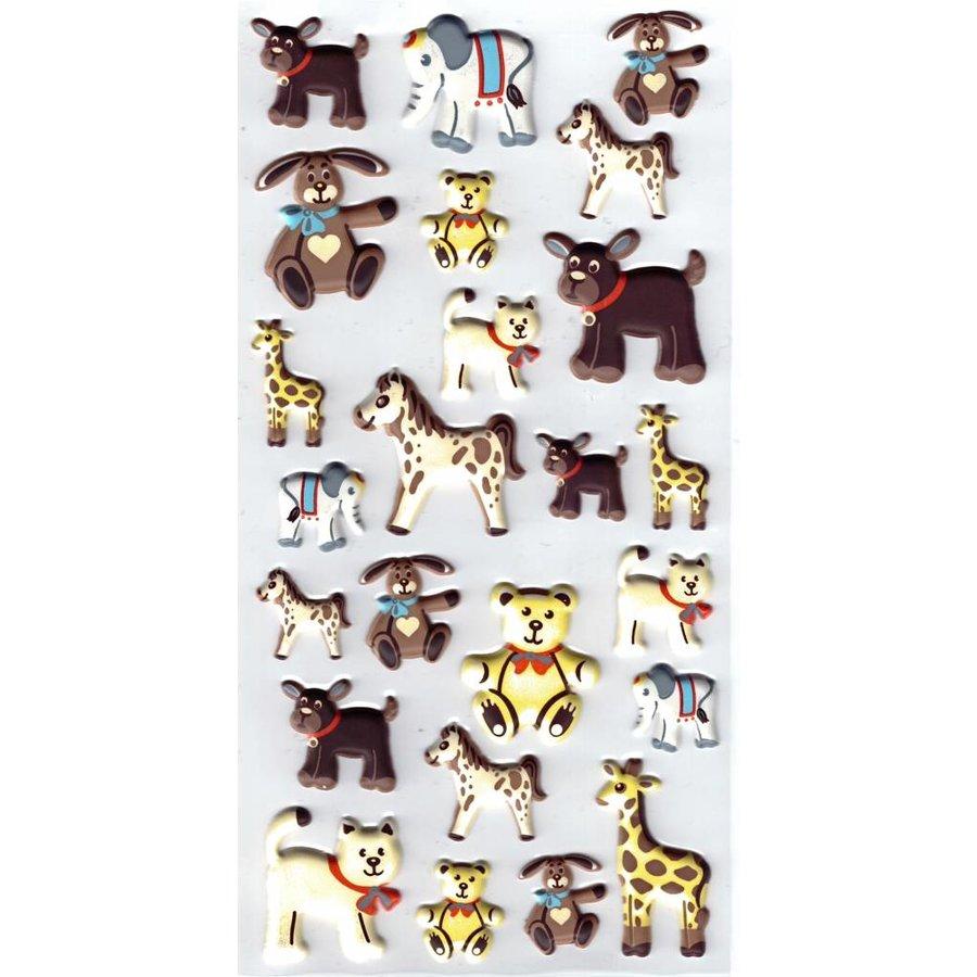 Selbstklebende Sticker Tierkinder