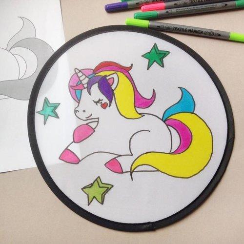 Einhorn Frisbee basteln