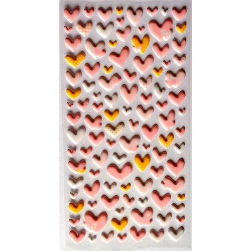 Sticker Herzen Rosa