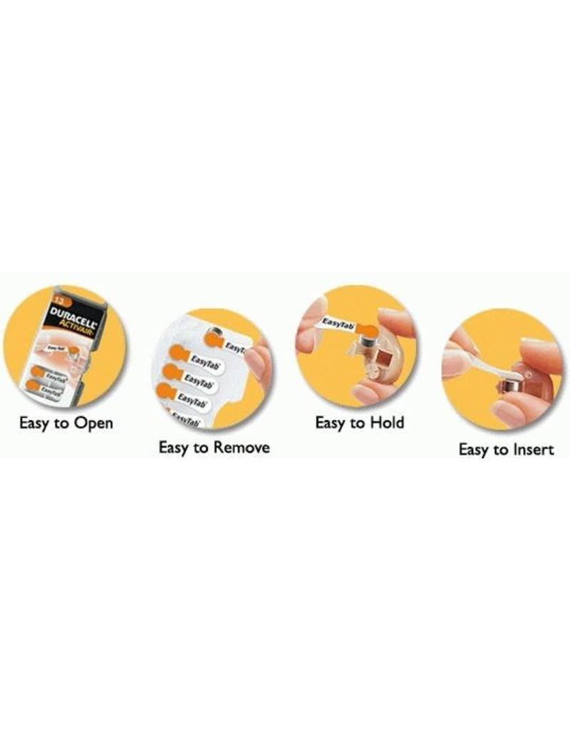 Duracell 10x oranje DA13 hoorapparaat batterij