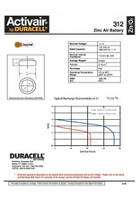 Duracell 10x bruin DA312 hoorapparaat batterij (60 stuks)