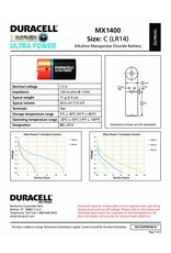 Duracell Batterij Plus Power Duralock C/LR14 blister 2
