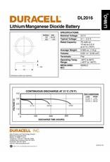 Duracell Knoopcel batterij Lithium CR2016 blister 1