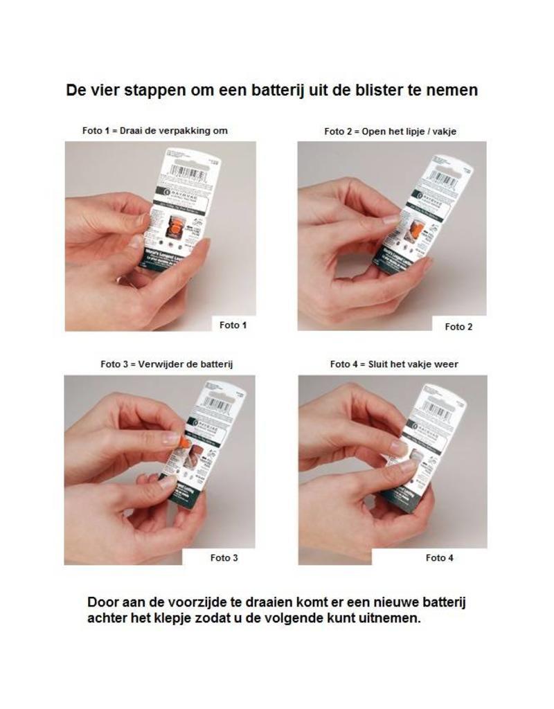 Rayovac oranje 13 AU Extra hoorapparaat batterij (6 stuks)