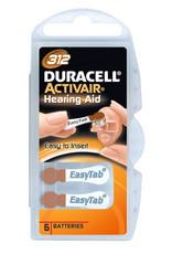 Duracell 10x bruin DA312 hoorapparaat batterij