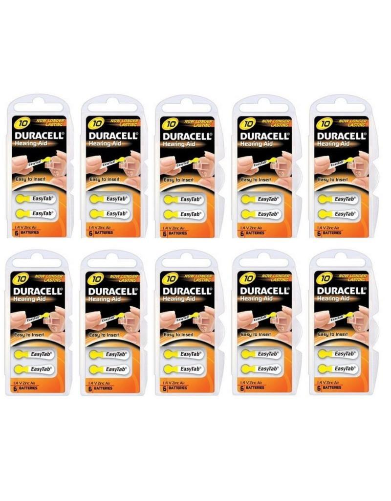 Duracell 10x geel DA10 hoorapparaat batterij (60 stuks)