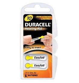 Duracell 6 stuks DA10 geel hoorapparaat batterij