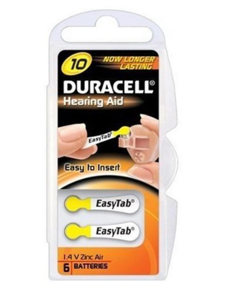 Duracell DA10 geel hoorapparaat batterij (6 stuks)