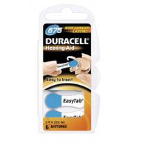 Duracell DA675 blauw hoorapparaat batterij (6 stuks)