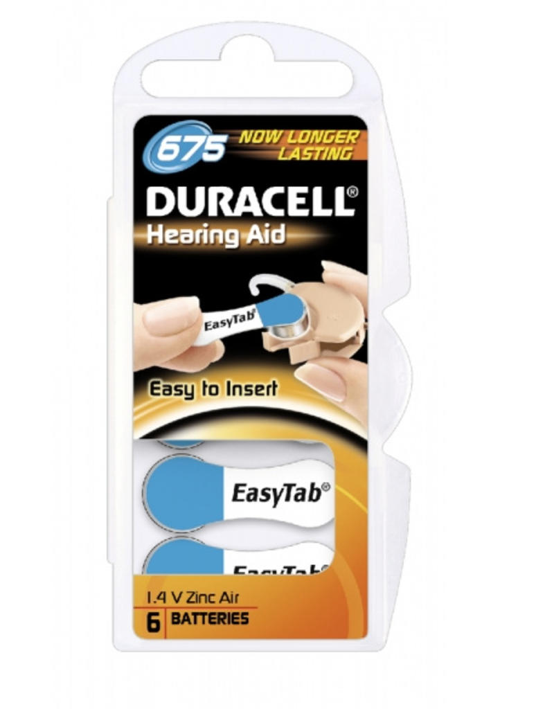 Duracell DA675 blauw hoorapparaat batterij