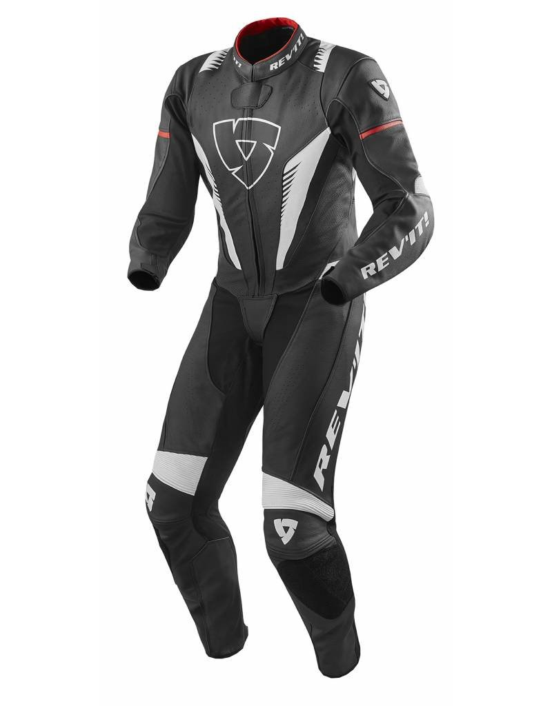 REV'IT! Eendelige overall Venom - Zwart-Wit-Rood