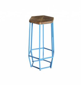 Jabulo Barhocker Hexa light blue