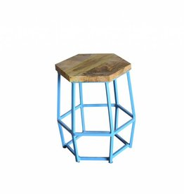 Jabulo Hocker Hexi light blue