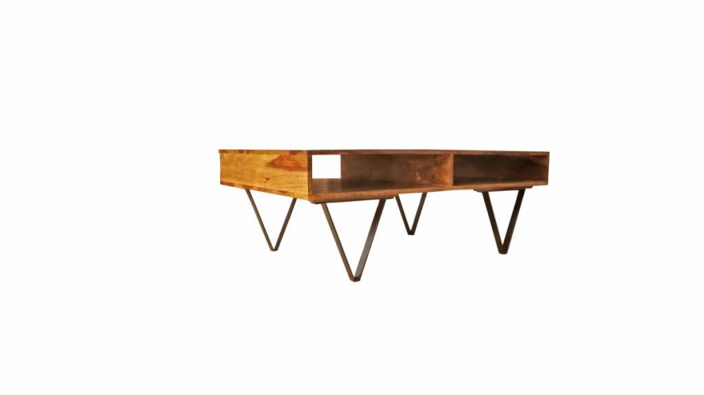 design tisch holz metall. Black Bedroom Furniture Sets. Home Design Ideas