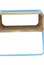 Jabulo Design Regal Schränkchen Holz und Metall retro Nachttisch