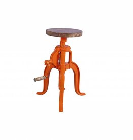 Jabulo Industrial Hocker New York Orange