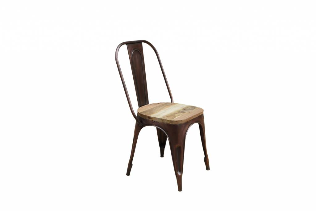 hochwertiger tolix stuhl detroit bronze mit sitzfl che aus. Black Bedroom Furniture Sets. Home Design Ideas
