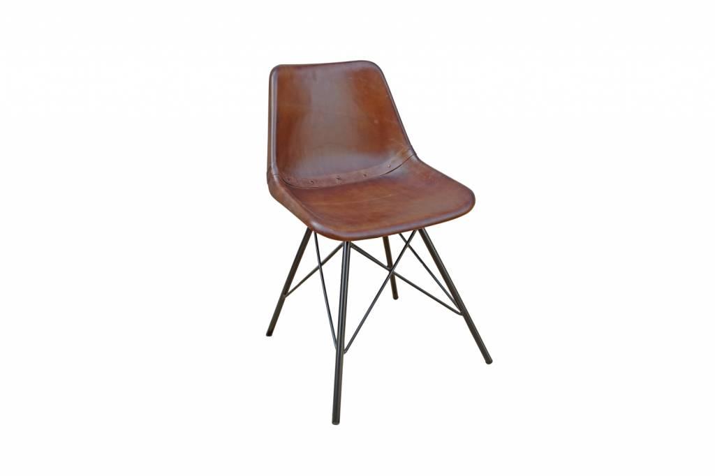 Design stuhl leder und eisen kombo for Stuhl industrial design