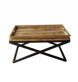 design couchtisch russell kombination aus metall und holz. Black Bedroom Furniture Sets. Home Design Ideas
