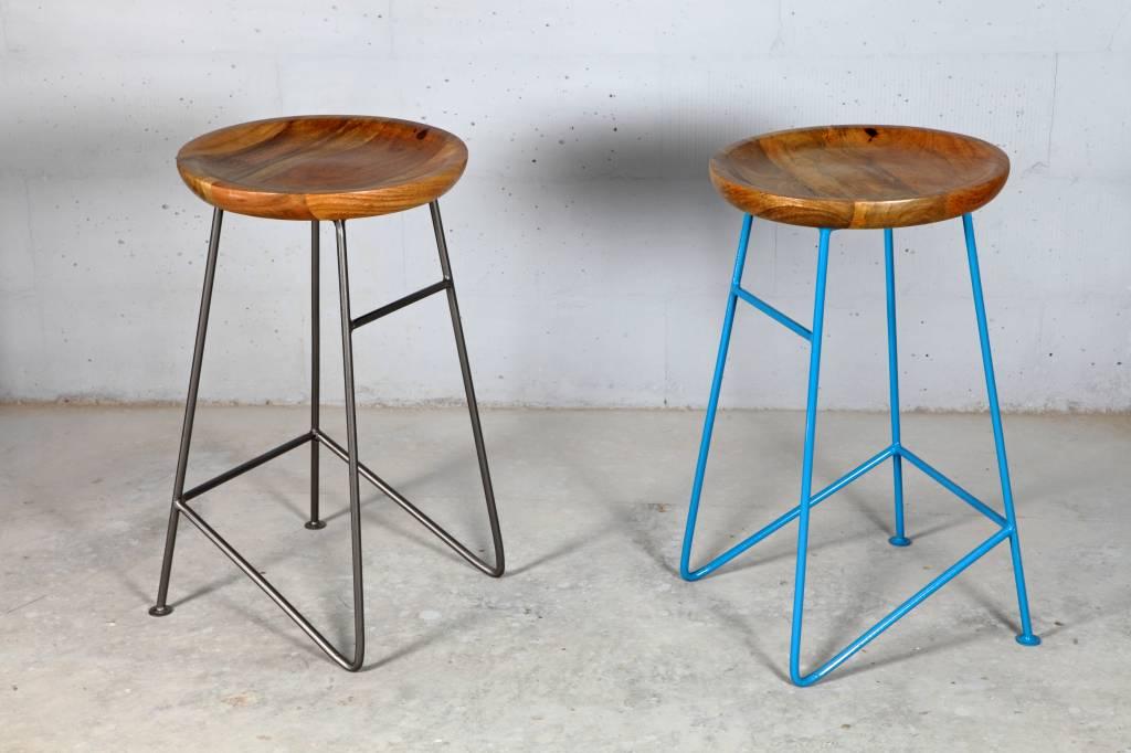design barhocker louis light blue kombination aus metall. Black Bedroom Furniture Sets. Home Design Ideas