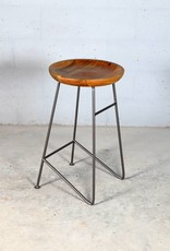 Jabulo Design Barhocker Louis Retro Metall Holz Industrial Vintage iron