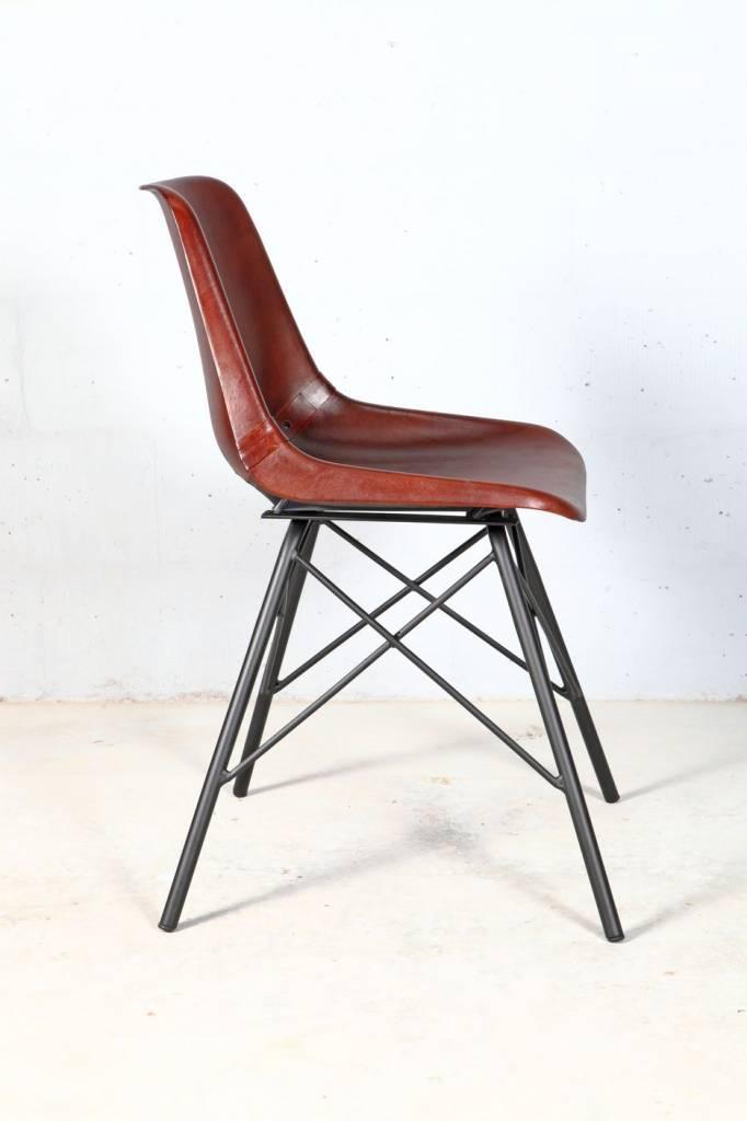 design stuhl leder metall gallery of industrial lederstuhl eins with design stuhl leder metall. Black Bedroom Furniture Sets. Home Design Ideas
