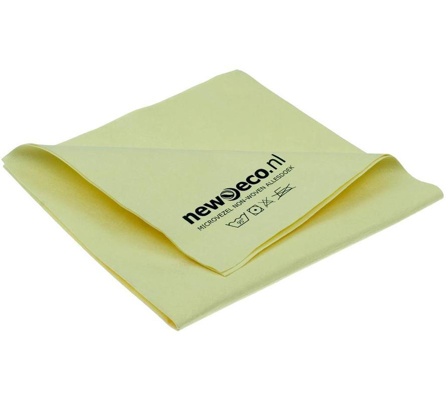 Non-woven microvezeldoeken geel 40x40 cm