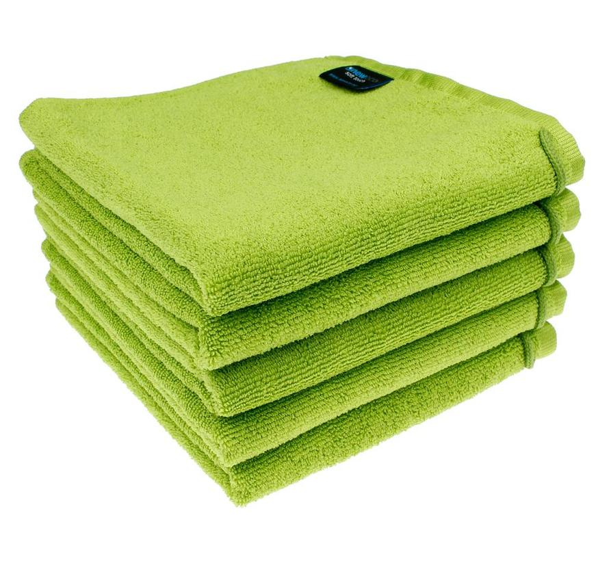 Microvezel Handdoek Appel groen