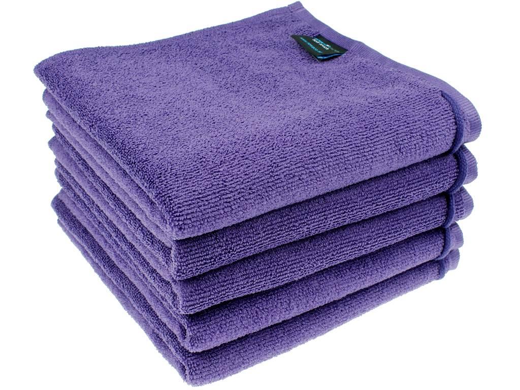 Microvezel handdoek paars - Wassen handdoeken ...