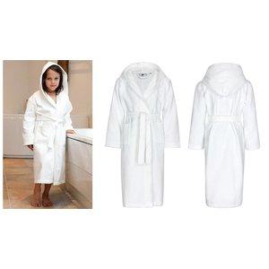 Kinderbadjas wit met capuchon Uniseks