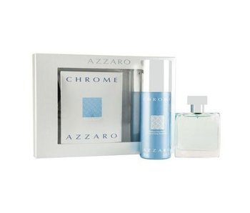 Azzaro Set Chrome EDT 30ml + Aftershave Balm 30ml + SHOWER GEL 50ml Toilette