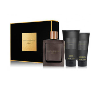 Cristiano Ronaldo Giftset Legacy Men EDT 100ml + SHOWER GEL 150ml + Aftershave Balm 100ml Toilette