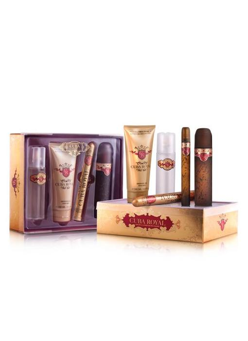 Cuba Original Giftset Cuba Royal EDT 100ml + EDT 15ml + SHOWER GEL 200ml + AS 100ml Toilette