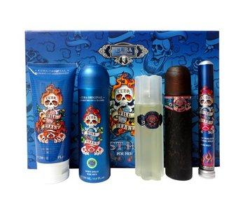Cuba Original Giftset Cuba Wild Heart Must Have EDT 100ml + EDT 35ml + Deodorant 200ml + SHOWER GEL 200ml + AS 100ml Toilette