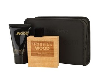 Dsquared Giftset He Wood Intense EDT 50ml + SHOWER GEL 100ml + COSMETIC BAG Toilette