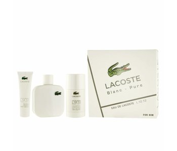 Lacoste Giftset Eau de Lacoste L.12.12 Blanc EDT spray100ml + SHOWER GEL 50ml + Deodorant Stick 75ml