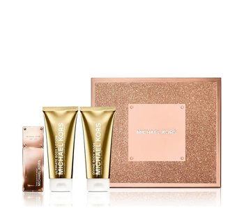 Michael Kors Giftset Rose Radiant Gold EDP 50ml + BODY LOTION 100ml + SHOWER GEL 100ml Parfum